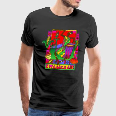 Happy Kwanzaa Black African American Holiday  - Men's Premium T-Shirt