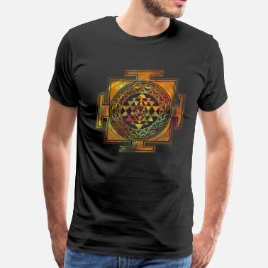 Sri Yantra Colorful Sri Yantra  / Sri Chakra - Men's Premium T-Shirt