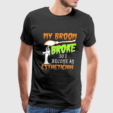 Awesome Crocheting My Broom Broke So I Became Esthetician Halloween - Men's Premium T-Shirt