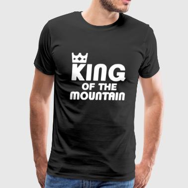 King of the Mountain Cycling Bike MTB - Men's Premium T-Shirt