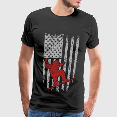 Skiing - Flag t-shirt for american skiing lovers - Men's Premium T-Shirt