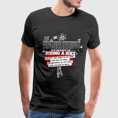 Electrical Engineer Art Engineering - It's as easy as riding a bike tee - Men's Premium T-Shirt
