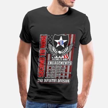 Infantry 2nd Infantry division - Second to none engagements - Men's Premium T-Shirt