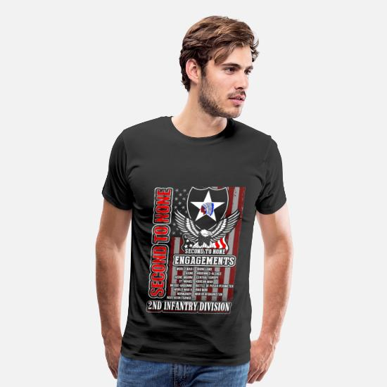 Division T-Shirts - 2nd Infantry division - Second to none engagements - Men's Premium T-Shirt black