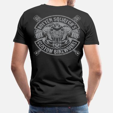 Angels Rotten Squatch's Custom Bikeworks - Men's Premium T-Shirt
