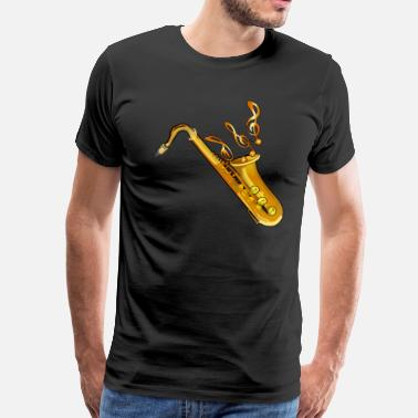 Tenor Saxophone - Men's Premium T-Shirt