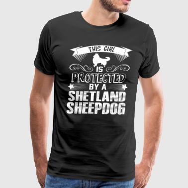 Protected By Shetland Sheepdog Shirt - Men's Premium T-Shirt
