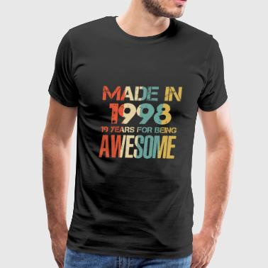 April 1998 20 Made In 1998 20 Years Of Awesomeness t-shirt - Men's Premium T-Shirt