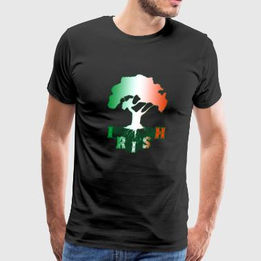 Irish Roots Family Heritage Ireland Ancestry flag - Men's Premium T-Shirt