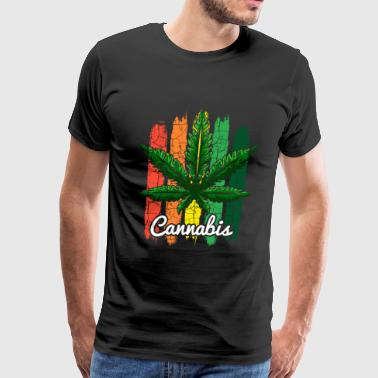 Cannabis Cannabisleaf Stoner Ganja Joint - Men's Premium T-Shirt