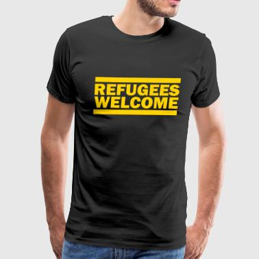 Refugees Welcome refugees welcome - Men's Premium T-Shirt