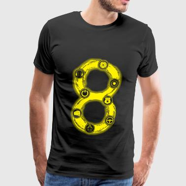 Number 8 handcuff awesome t-shirt - Men's Premium T-Shirt