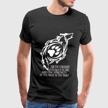 Emo Wolf Wolf - The strength of the pack is the wolf - Men's Premium T-Shirt