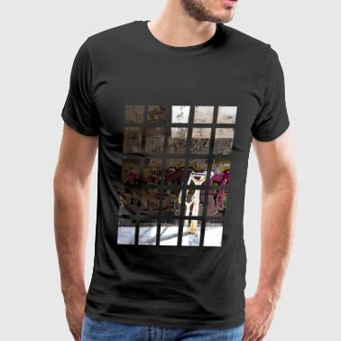 Abandoned staircase - Men's Premium T-Shirt