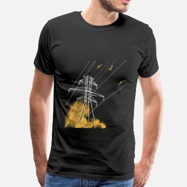 Power Lines Power Line Attack - Men's Premium T-Shirt