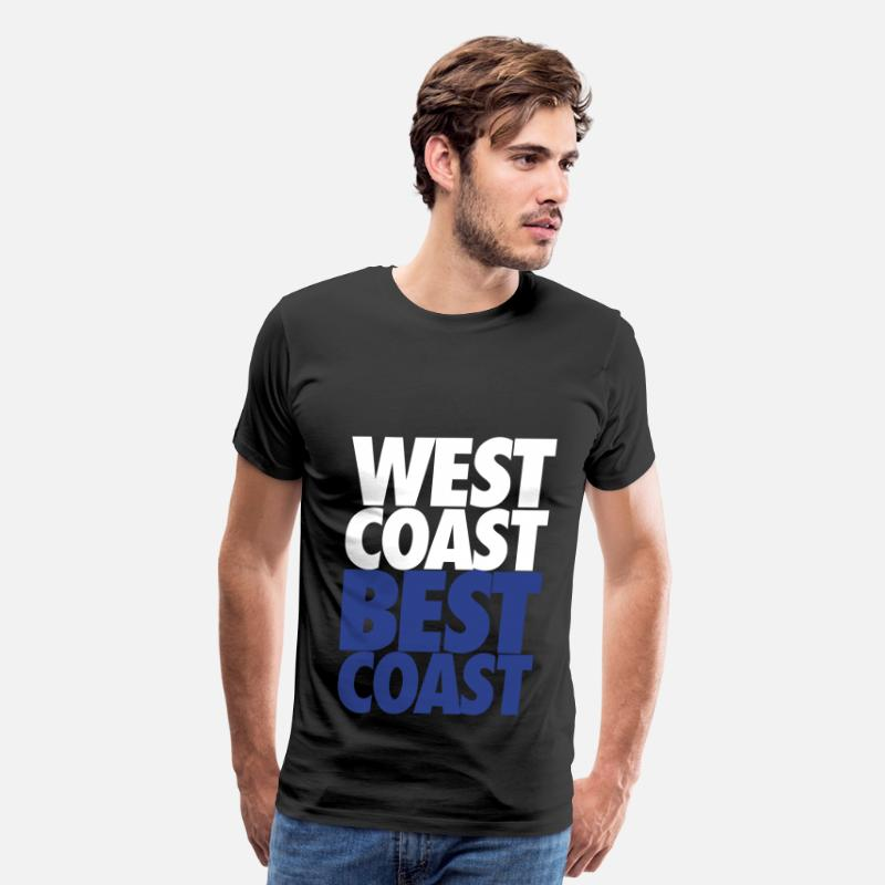 Pacific T-Shirts - West Coast Best Coast - Men's Premium T-Shirt black