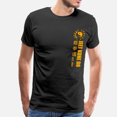 Bruce Lee jeet kune do EST 1967 martial arts Yellow - Men's Premium T-Shirt