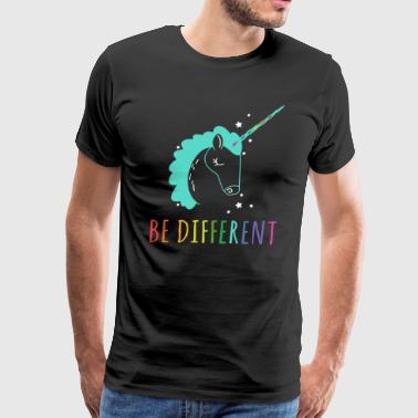 Be Lesbian Be Different Be Unicorn Shirts - Men's Premium T-Shirt