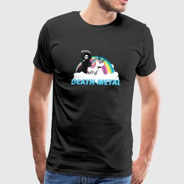 Death Metal Rainbow Funny Death Metal Shirt Gift Men Women lost bet - Men's Premium T-Shirt