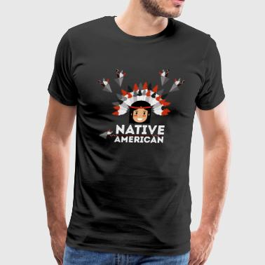 NATIVE AMERICAN S DAY T-SHIRT - Men's Premium T-Shirt