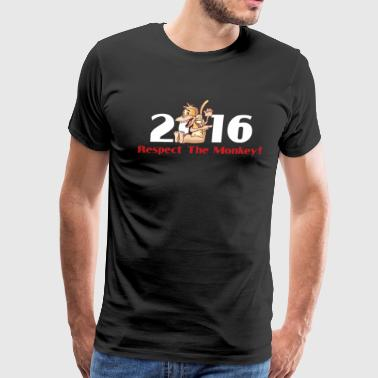 2016 Year Of The Monkey Year of The Monkey 2016 Respect The Monkey - Men's Premium T-Shirt