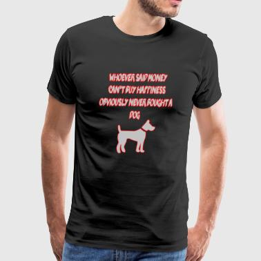 Obviously Obviously never bought a dog - Men's Premium T-Shirt