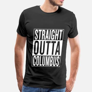 Mexico Flag Graffiti straight outta Columbus - Men's Premium T-Shirt