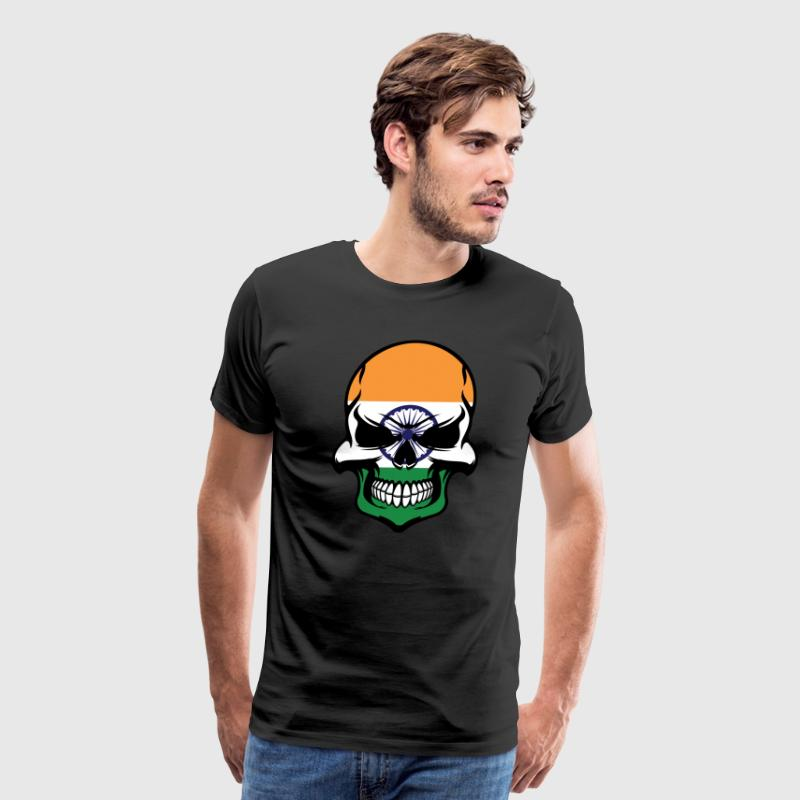 Indian Flag Skull Cool India Skull - Men's Premium T-Shirt