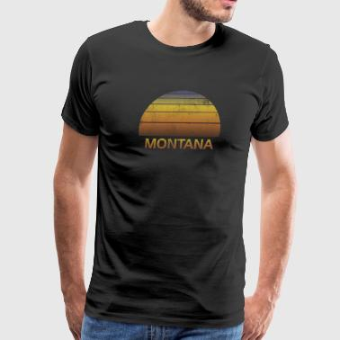 Clothes Soccer Vintage Sunset Family Vacation Souvenir Montana - Men's Premium T-Shirt