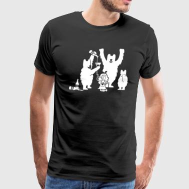Goldilocks And The Three Beers - Men's Premium T-Shirt