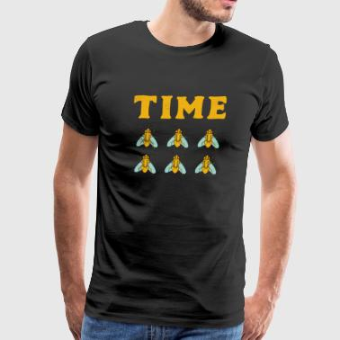Time is Flying Fast Funny Pun Expression Insect - Men's Premium T-Shirt