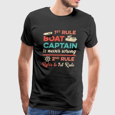 Pontoon Captain 1st Rule Pontooning Fathers Day Gift - Men's Premium T-Shirt