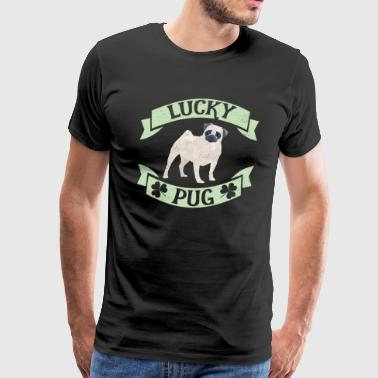 Dog St Patrick's Day Pug St Patty's Day - Men's Premium T-Shirt