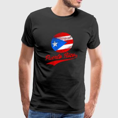 Puerto Rico Baseball Ball Flag Puerto Rican - Men's Premium T-Shirt