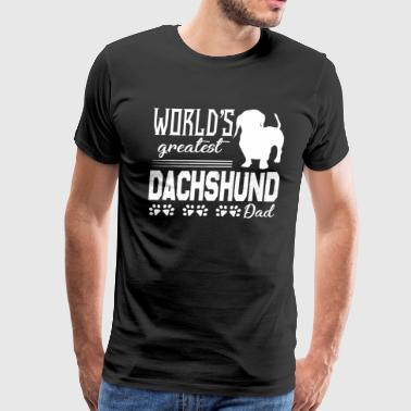 Dachshund Dad Shirt - Men's Premium T-Shirt