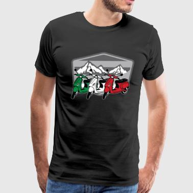 Vespa Scooter Italia | Motorbike Italy Flag Two Wheeler - Men's Premium T-Shirt