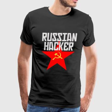 Russian Protest RUSSIAN HACKER - Men's Premium T-Shirt