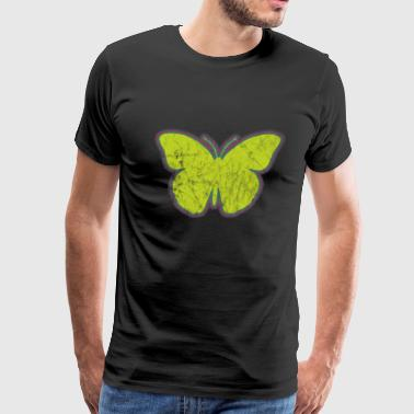Insect Yellow Butterfly - Men's Premium T-Shirt