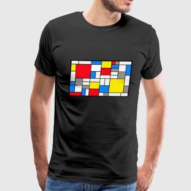Mondrian theme - Men's Premium T-Shirt