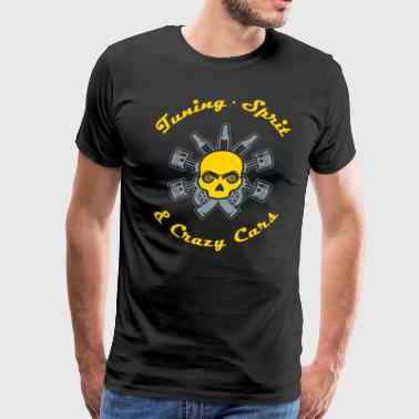 Tuning Sprit and Crazy Cars - Men's Premium T-Shirt