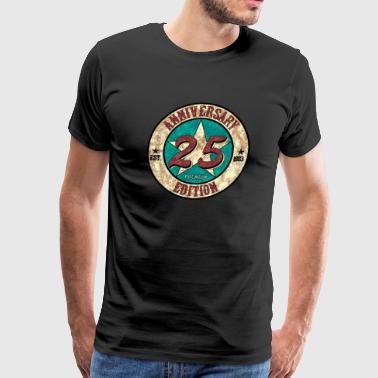 25th Birthday Anniversary gift present Vintage - Men's Premium T-Shirt