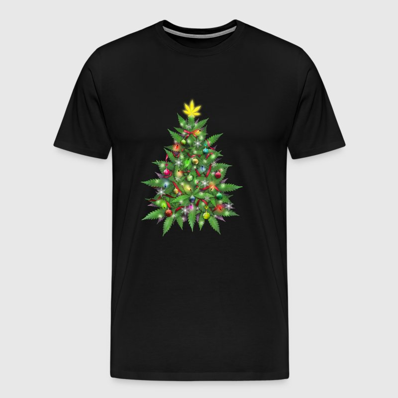 Marijuana Christmas Tree - Men's Premium T-Shirt