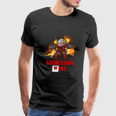 Aggression Wins - Extra Large Edition! - Men's Premium T-Shirt