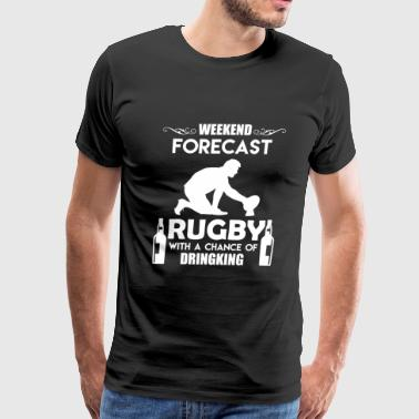 Weekend Forecast Rugby - Men's Premium T-Shirt