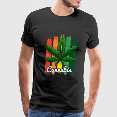 Cannabis Hashish Jamaica Hemp Leaf reggae Gift - Men's Premium T-Shirt