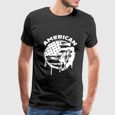 American Chicken Shirt - Men's Premium T-Shirt