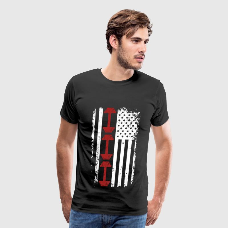 Workout - Awesome american flag t-shirt - Men's Premium T-Shirt