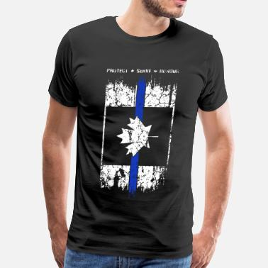 Flag Thin Blue Line Canada - Men's Premium T-Shirt