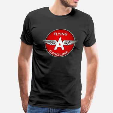 Flying A Gasoline Flying A Gasoline crystal version - Men's Premium T-Shirt
