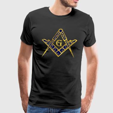 Freemasonry symbol Square and Compasses - Men's Premium T-Shirt